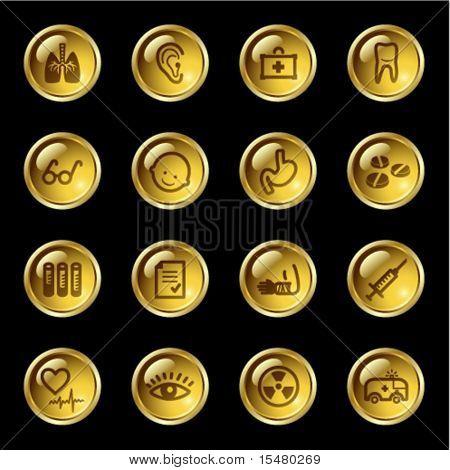 Gold Drop-Medizin-Symbole