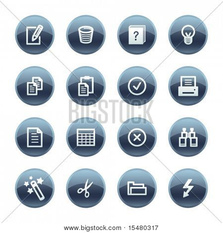 Mineral drop document icons