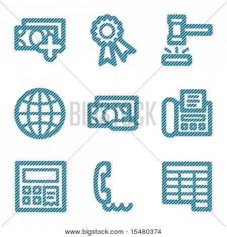 Blue line finance 2 contour icons V2