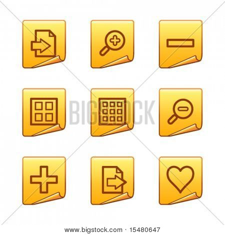 Image viewer icons, gold sticker series