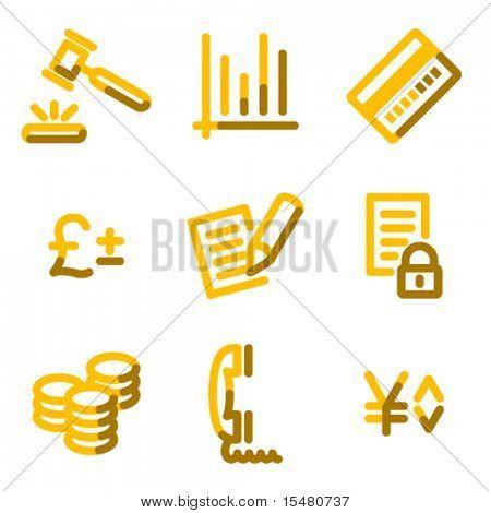 E-business icons, gold contour series