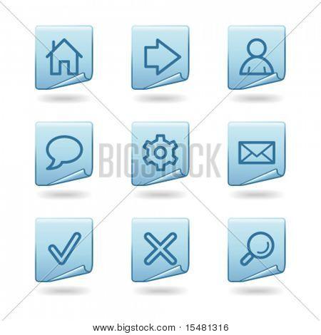 Série de etiqueta Web ícones, azul