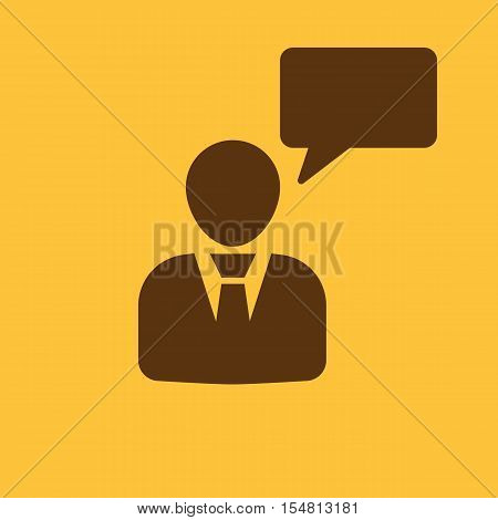 The message icon. Talking and communication, message, speak, speaking people symbol. UI. Web. Logo. Sign. Flat design. App. Stock vector