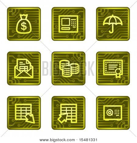 Banking web icons, electronics card series