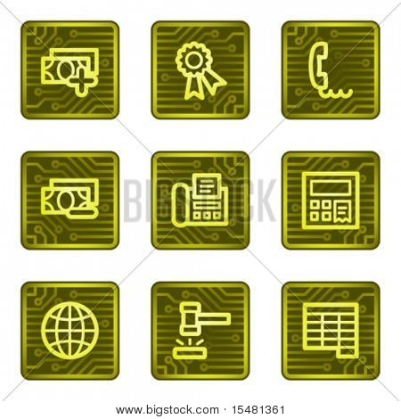 Finance 2 web icons, electronics card series