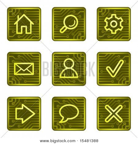Basic web icons, electronics card series