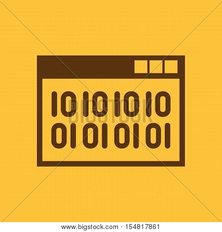 The web code icon. WWW and browser, development, seo, web code symbol. UI. Web. Logo. Sign. Flat design. App. Stock vector