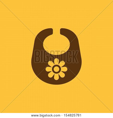 Bib icon. design. Breastplate and apron, Bib symbol. web. graphic. AI. app. logo. object. flat. image. sign. eps. art. picture - stock vector