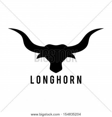 Bull Head emblem template for business. Vector illustration. Western Concept