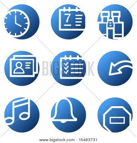 Organizer web icons, blue circle series
