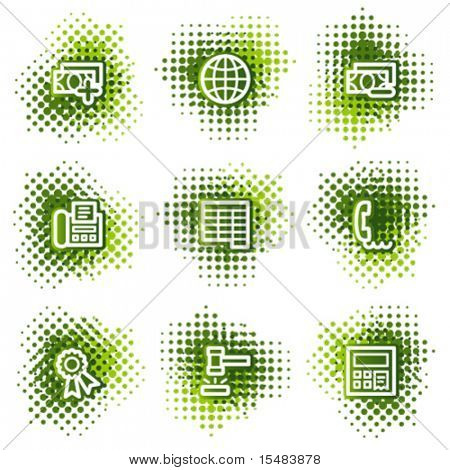 Finance web icons, green dots series set 2