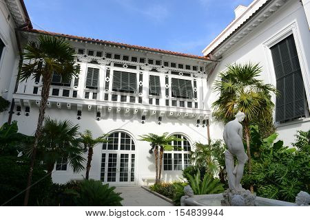 PALM BEACH, FL, USA - JAN 3, 2015: Henry Morrison Flagler Mansion, built in 1902 with Beaux Arts style in Palm Beach, Florida, USA. Now this building is a National Historic Landmark.