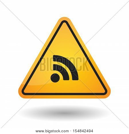 Isolated Danger Signal Icon With An Rss Sign