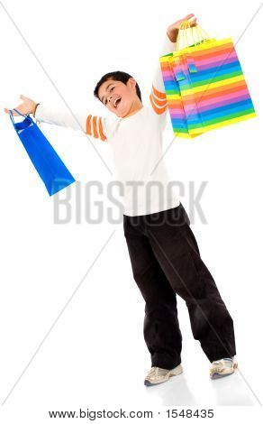 Boy With Shopping Bags
