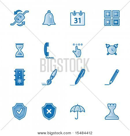 Administration icons, blue series