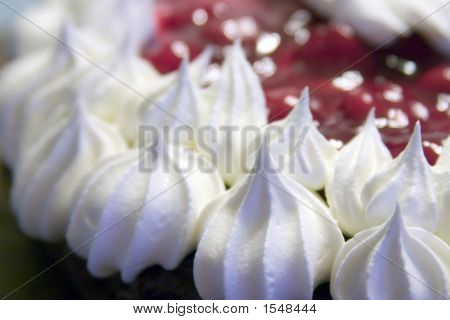 Close Up Of Whipped Topping On A Cake