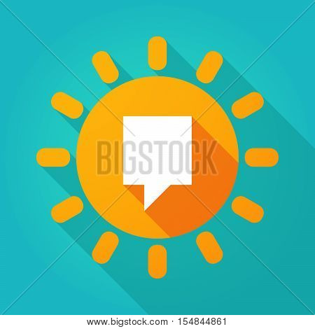 Long Shadow Bright Sun Icon With A Tooltip
