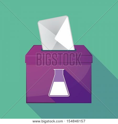 Long Shadow Coloured Ballot Box Icon With A Flask