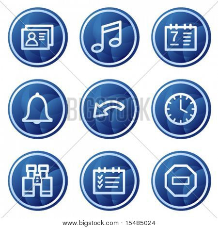 Oraganizer web icons, blue circle buttons series