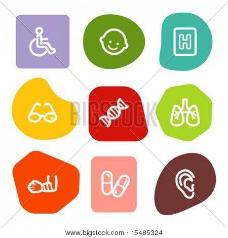 Medicine web icons set 2, colour spots series