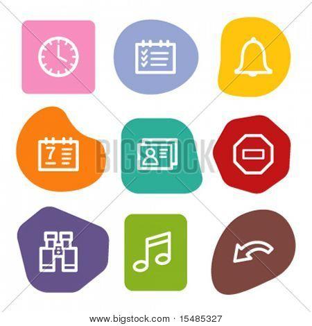 Organizer web icons, colour spots series