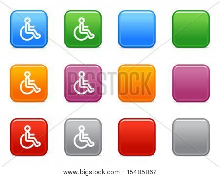 Color buttons with disabled person icon