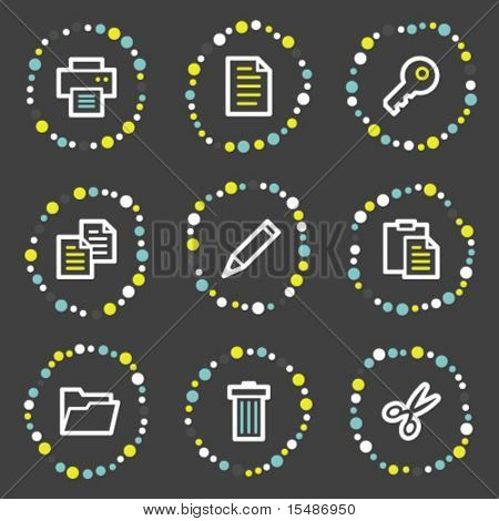 Document web icons set 1, color dots series