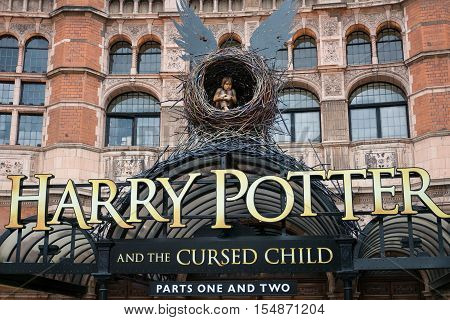 London, England - 25 July 2016 : The Palace Theatre In London Which Is Harry Potter And The Cursed C