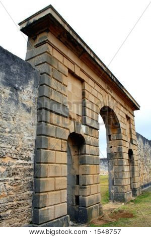 Arch Of Old Pentagonal Prison