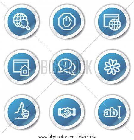 Internet web icons set 1, blue sticker series