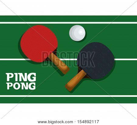 ping pong equipment sport vector illustration design