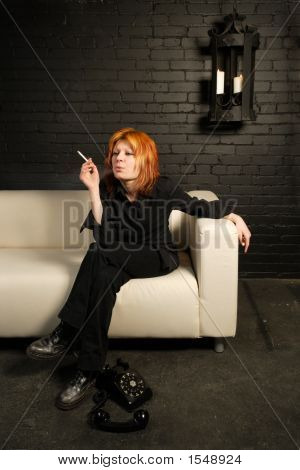 Cristine Smoking