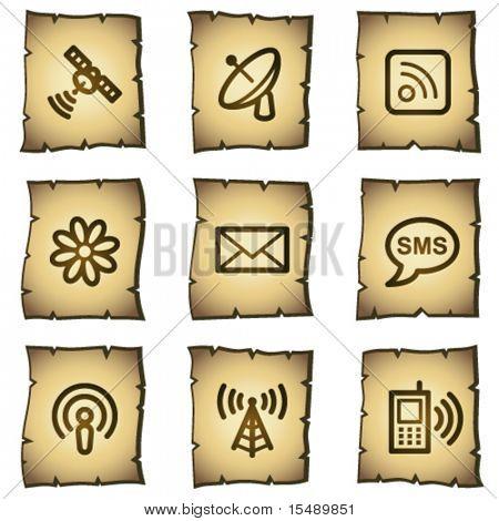 Communication web icons, papyrus series