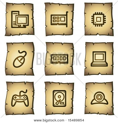 Computer web icons, papyrus series