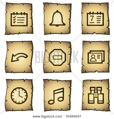 Organizer web icons, papyrus series