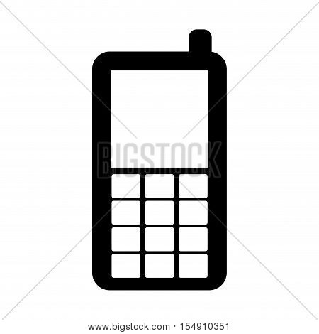 mobile phone icon over white background. cellphone device. vector illustration