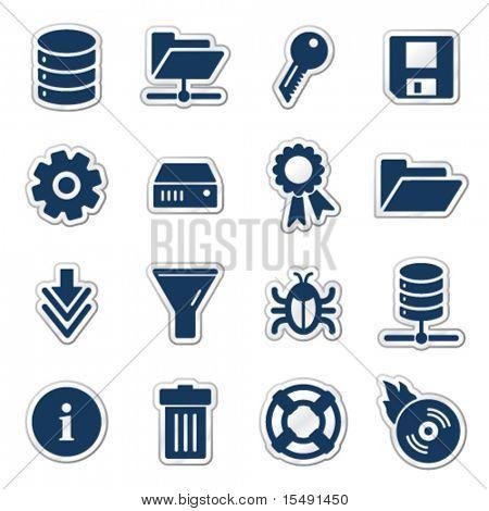 Server Web-Ikonen, Marine-Aufkleber-Serie