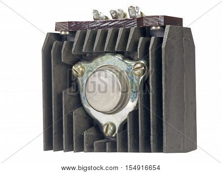 the power transistor n a white background