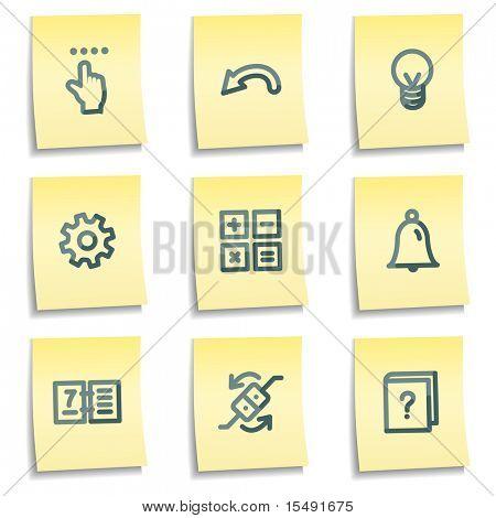 Organizer icons, yellow notes series