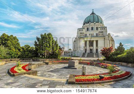 Central Cemetery Charles Borromeo Church Vienna. Austria.