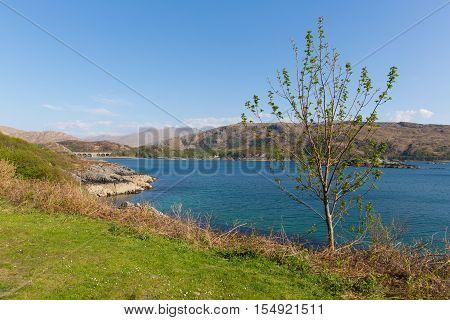Loch Nan Uamh beautiful Scottish loch west coast of Scotland near Arisaig
