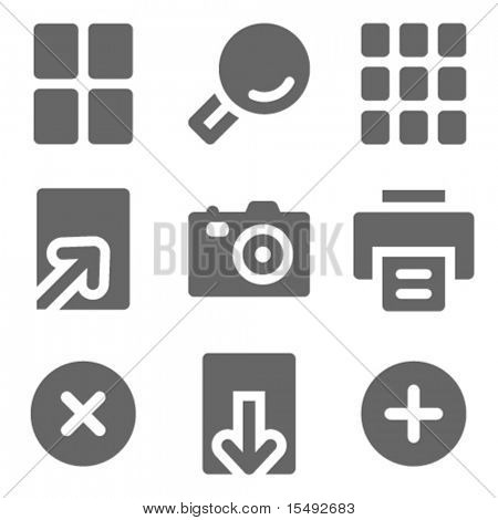 Bild-Viewer Web Icons, grau solid Serie