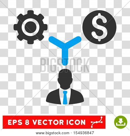 Business Scheme EPS vector pictograph. Illustration style is flat iconic bicolor blue and gray symbol on white background.