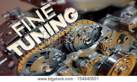 Fine Tuning Engine Performance Engineering Words 3d Illustration