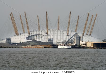 Millennium Dome And Thames