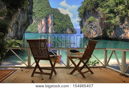 the rest of the Andaman sea , Krabi province, Thailand, Asia