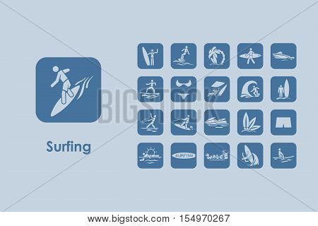 It is a set of surfing simple web icons
