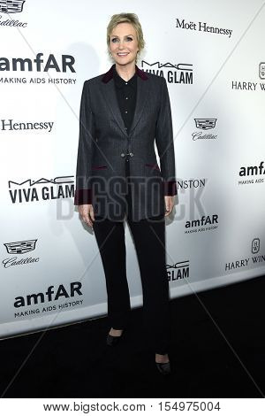 LOS ANGELES - OCT 27:  Jane Lynch arrives to the amFAR's Inspiration Gala on October 27, 2016 in Hollywood, CA