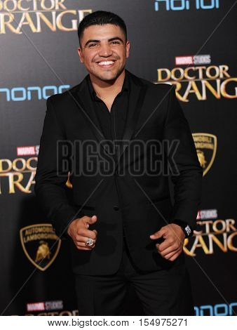 LOS ANGELES - OCT 20:  Victor Ortiz arrives to the