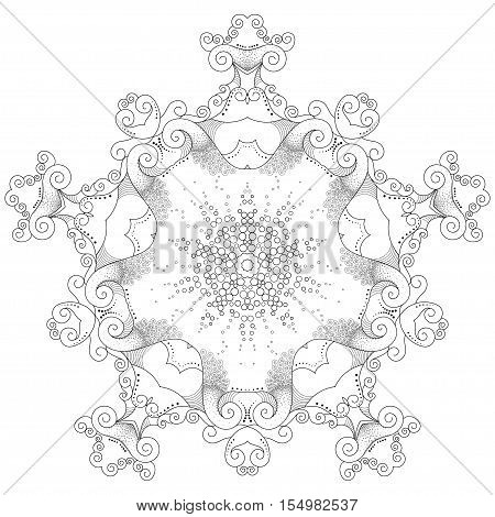 Abstract round lace pattern. Reminiscent of sea waves.